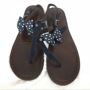 Abercrombie & Fitch Leather Polka Dot Sandals